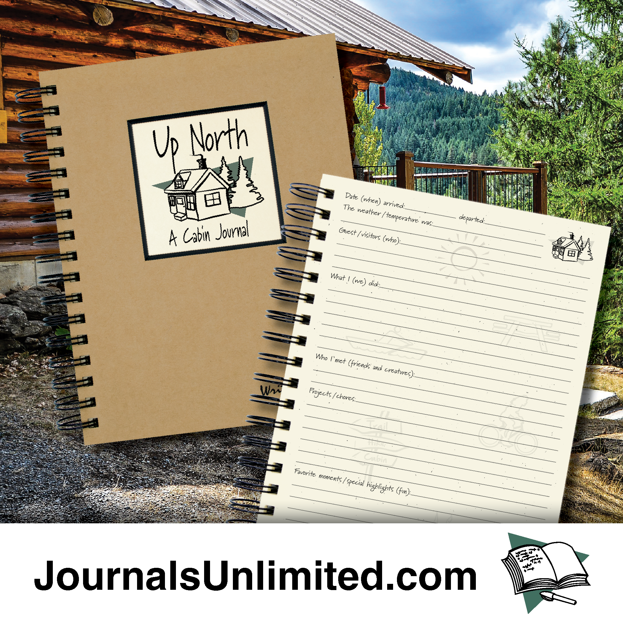 Up North A Cabin Journal Journals Unlimited Inc