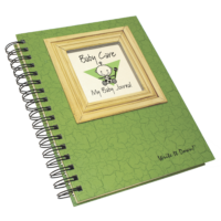 baby care – my baby journal – avocado green