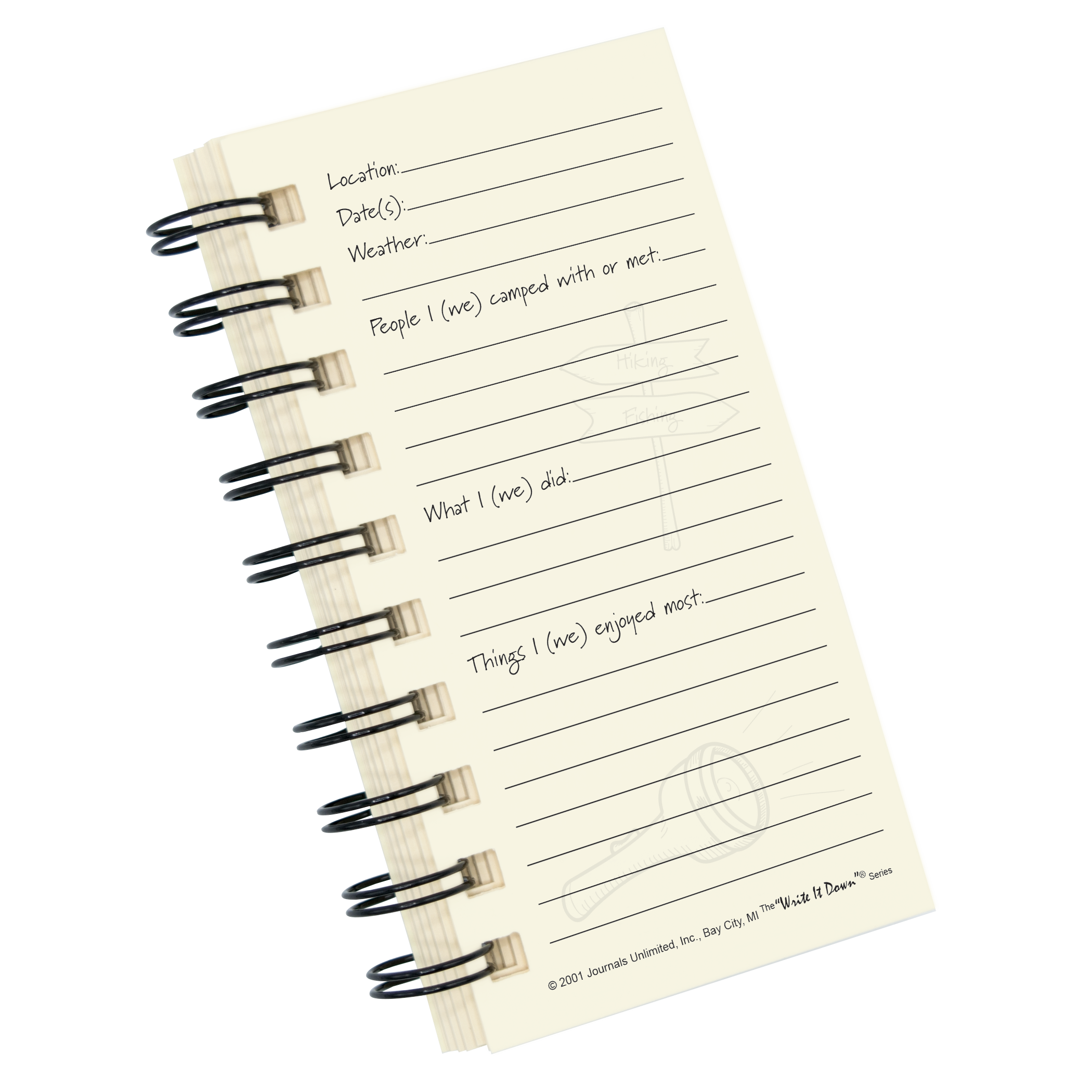 Camping – A Campers Mini Journal | Journals Unlimited, Inc