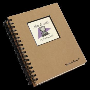 Online Accounts My Password Journal
