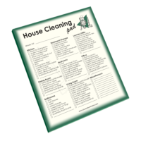 House Cleaning Notepad