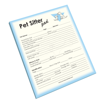 Pet Sitter Notepad