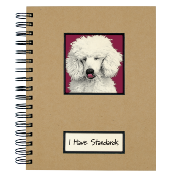 Canine Collection Dog Journal Standard Poodle