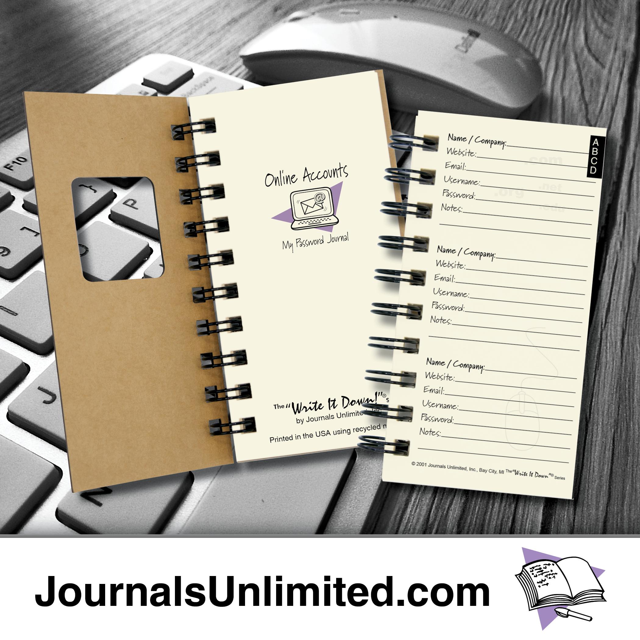 Password Journal Just 19 97: Online Accounts, My Password Mini Journal