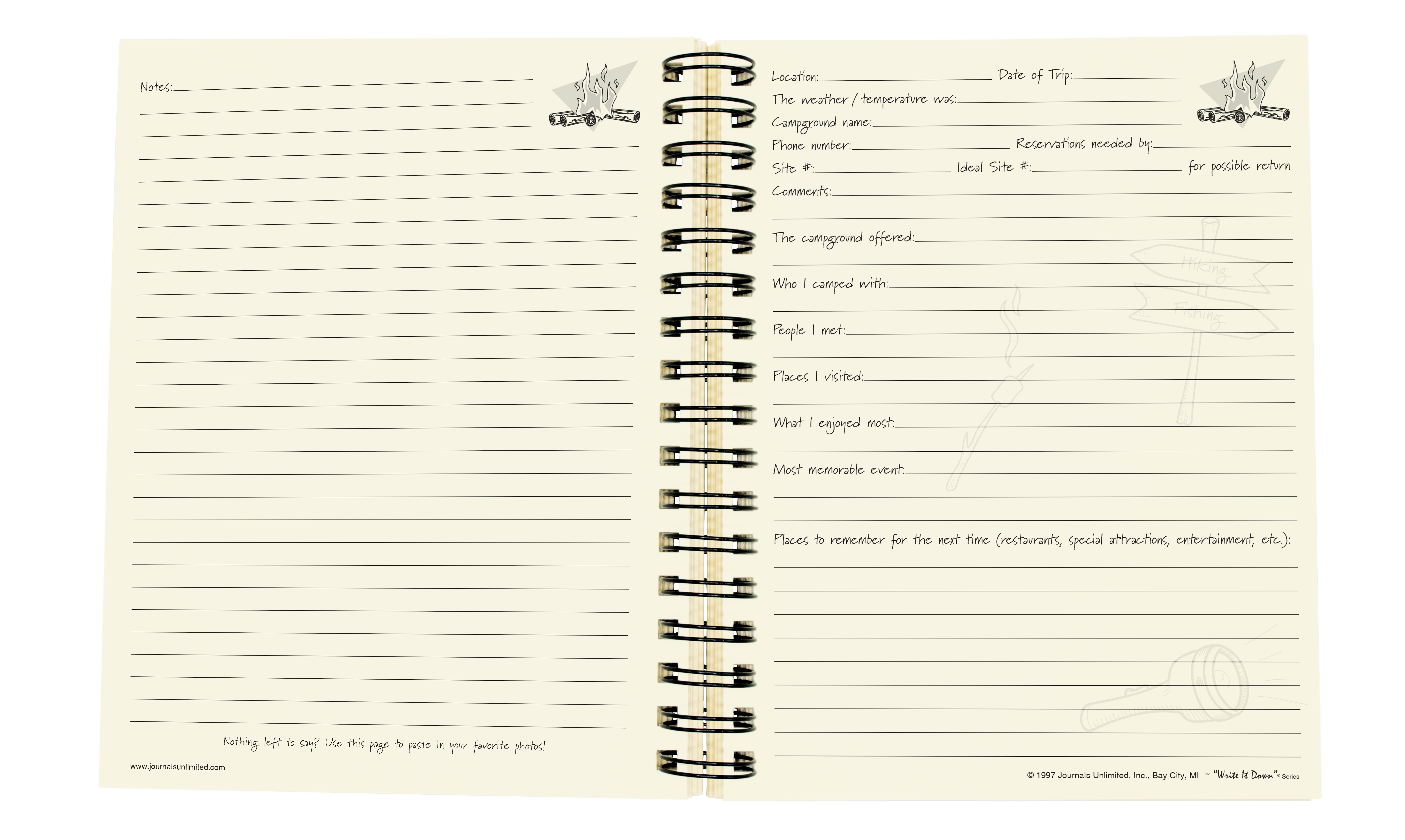 camping the campers journal journals unlimited inc