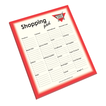 NP-425 Shopping Notepad
