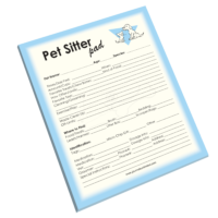 NP-432 Pet Sitter Notepad