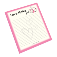 NP-433 Love Notes Notepad